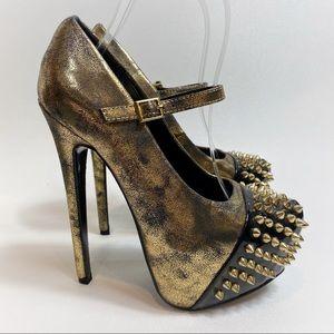 Shoedazzle Studded Punk Rock Platform Heels
